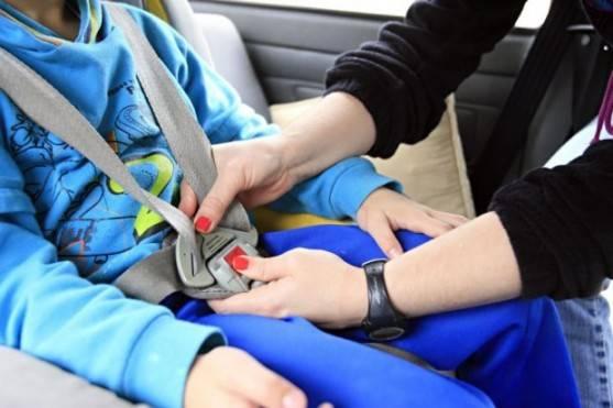 Certifique-se de que o cinto está bem justo, pois só o impacto do corpo do seu filho contra ele pode causar sérias lesões.